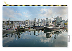 Vancouver Cityscape Carry-all Pouch by Fraida Gutovich