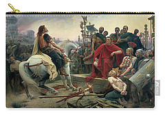 Vercingetorix Throws Down His Arms At The Feet Of Julius Caesar Carry-all Pouch