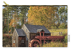 Carry-all Pouch featuring the photograph Vermont Grist Mill by Edward Fielding