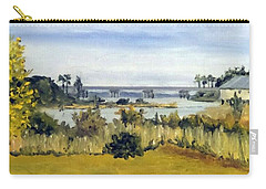 Carry-all Pouch featuring the painting View From Sturgeon City Park by Jim Phillips