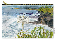 Carry-all Pouch featuring the painting View From Tanah Lot Bali Indonesia by Melly Terpening