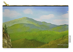 Carry-all Pouch featuring the painting View From The Bluffs by Frank Wilson