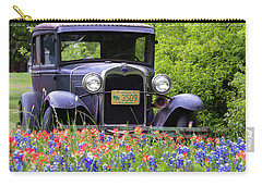 Carry-all Pouch featuring the photograph Vintage Model T Ford Automobile by Robert Bellomy