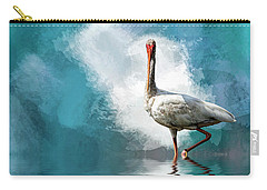 Wading Ibis Carry-all Pouch by Cyndy Doty