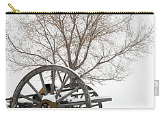 Wagon In The Snow Carry-all Pouch