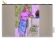 Waiting Carry-all Pouch by P J Lewis