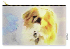Carry-all Pouch featuring the photograph Wasabi, Dog Painted. by Roger Bester