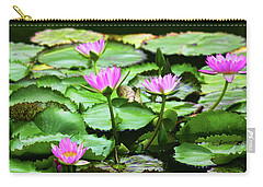 Carry-all Pouch featuring the photograph Water Lilies by Anthony Jones