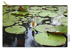 Carry-all Pouch featuring the photograph Water Lilies by Ellen Tully