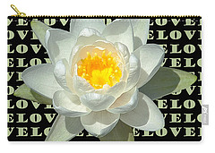 Water Lily Love Carry-all Pouch by Jeannette Hunt