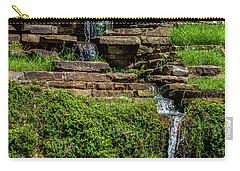 Carry-all Pouch featuring the photograph Water Over The Rocks One by Ken Frischkorn