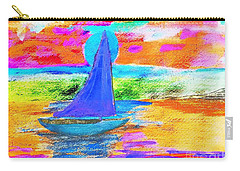 Watercolor Sailing Carry-all Pouch