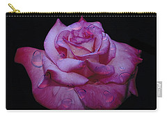 Watered Red Rose Carry-all Pouch