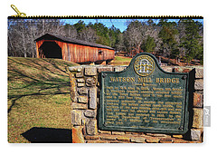 Watson Mill Covered Bridge 010 Carry-all Pouch by George Bostian