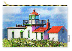 West Point Lighthouse Sketched Carry-all Pouch