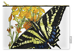 Western Tiger Swallowtail On A Western Wallflower Carry-all Pouch