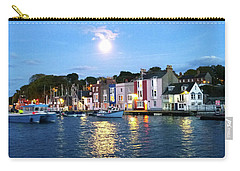 Carry-all Pouch featuring the photograph Weymouth Harbour Full Moon by Anne Kotan