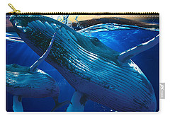 Whale Watching Art Carry-all Pouch by Marvin Blaine