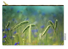 Blue Cornflower Carry-All Pouches