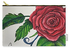 Whimsical Red Rose Carry-all Pouch