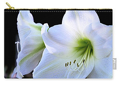 Carry-all Pouch featuring the photograph White Amaryllis  by Saija Lehtonen