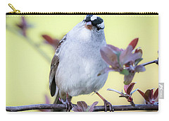 Carry-all Pouch featuring the photograph White-crowned Sparrow  by Ricky L Jones