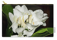 White Flower Carry-all Pouch by James Gay