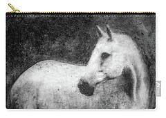 White Horse Portrait Carry-all Pouch
