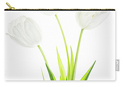 Carry-all Pouch featuring the photograph White On White by Rebecca Cozart