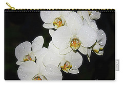 Carry-all Pouch featuring the photograph White Orchid by Elvira Ladocki