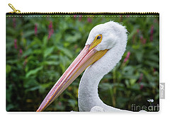 White Pelican Carry-all Pouch by Robert Frederick