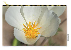 Carry-all Pouch featuring the photograph White Poppies  by Saija Lehtonen