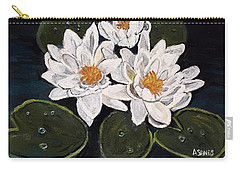 White Water Lily Carry-all Pouch