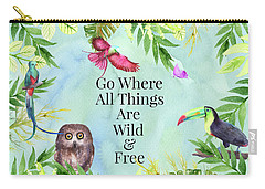 Carry-all Pouch featuring the digital art Wild And Free by Colleen Taylor