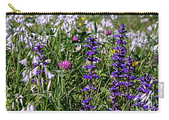 Carry-all Pouch featuring the photograph Wild Flowers by Patricia Hofmeester