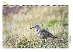 Carry-all Pouch featuring the photograph Willet by Michael Chatt