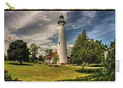 Wind Point Lighthouse Carry-all Pouch by David Bearden