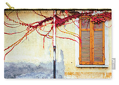 Carry-all Pouch featuring the photograph Window And Red Vine by Silvia Ganora