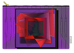 Carry-all Pouch featuring the digital art Windows by Iris Gelbart