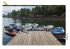 Carry-all Pouch featuring the photograph Winter Harbor Maine  by Trace Kittrell