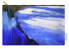Carry-all Pouch featuring the painting Winter River by Nancy Merkle