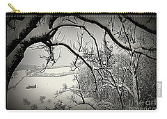 Carry-all Pouch featuring the photograph Winter Scene In Switzerland by Susanne Van Hulst