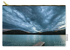 Carry-all Pouch featuring the photograph Winter Storm Clouds by Thomas R Fletcher