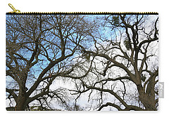Carry-all Pouch featuring the photograph Winter Trees At Fort Tejon Lebec California  by Floyd Snyder