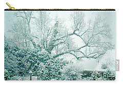 Carry-all Pouch featuring the photograph Winter Wonderland In Switzerland by Susanne Van Hulst