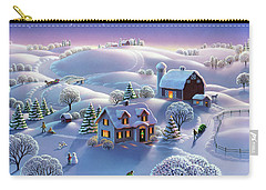 Carry-all Pouch featuring the painting Winter Night  by Robin Moline
