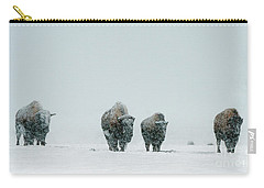 Carry-all Pouch featuring the photograph Winter's Burden II by Sandra Bronstein