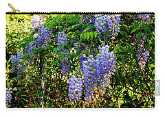 Carry-all Pouch featuring the photograph Wisteria by Betty-Anne McDonald
