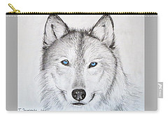 Wolf Carry-all Pouch by Tamara Savchenko