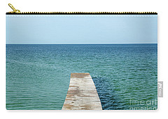 Carry-all Pouch featuring the photograph Wooden Bath Pier by Kennerth and Birgitta Kullman